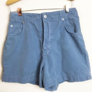 BANANA REPUBLIC baby blue high waisted shorts 10